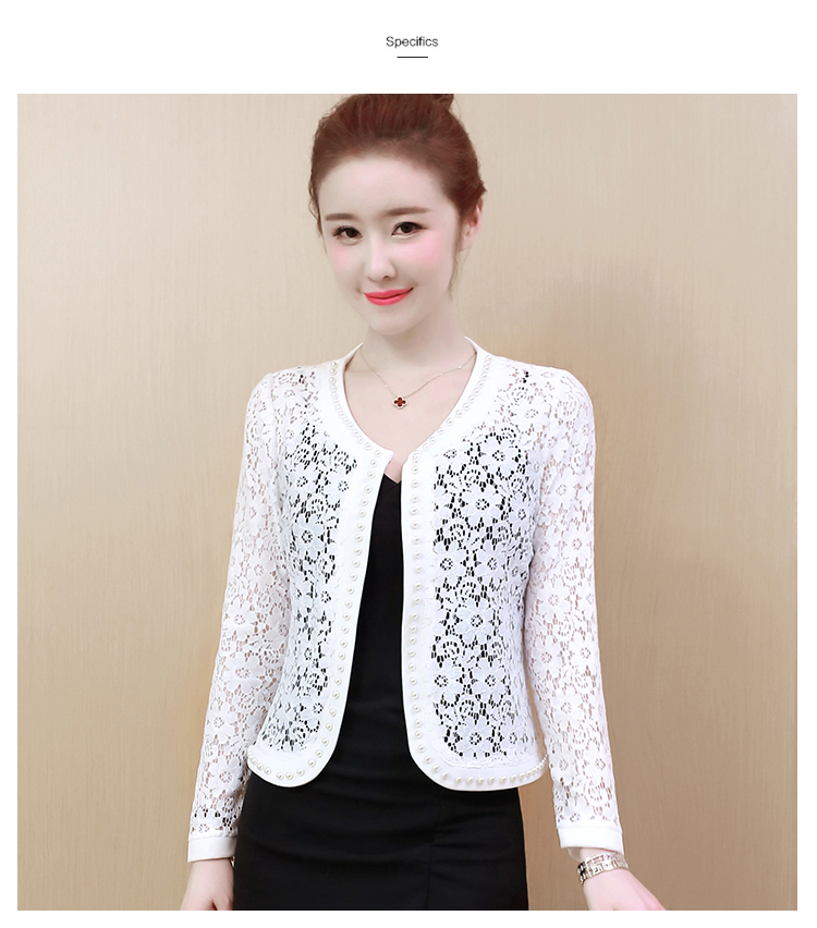 HTB1LxS1S3HqK1RjSZFgq6y7JXXau - Women Jacket Long Sleeve black hollow lace jacket women fashion women's jackets women coats and jackets women clothing B239