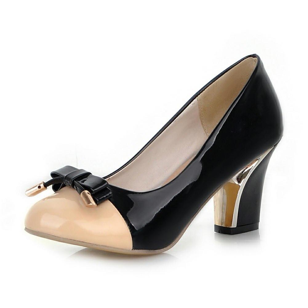 5fad01eff9c Offre Partie Taille Chaussures Nouveautés Pompes Femme Grande 43 bleu rose  Talons Bowtie Spéciale Doux Slip ...