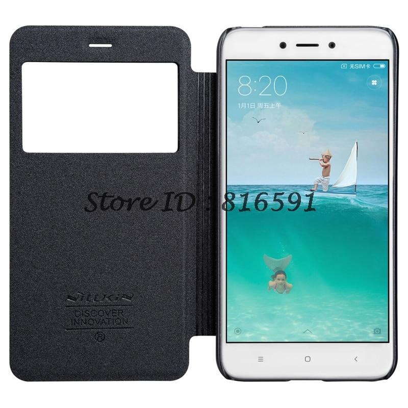 ec38b0509376a Nillkin Xiaomi Caso Redmi Redmi 4X 4X Tampa Articulada (5.0 polegadas)  faísca Série PU Estojo De Couro para Xiaomi Redmi 4X