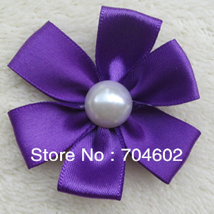 Free Shipping Baby Girls Headdress Flower Pearl Flower 1.9'' Fabric Fascinator Hair Accessories 50PCS/LOT MHC05