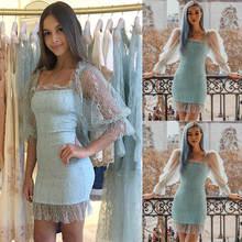 Женское сексуальное облегающее платье с пышными рукавами вечернее