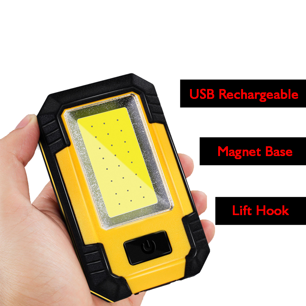 30 Watts Bright 21 LEDs COB Camping Tent Light Lampe, Magnet Work Lamp, Portable USB Rechargeable Camping Table LED Lanterne