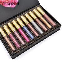 VERONNI 2018 Hot New Bud K Matte Liquid Lipstick+Lips Pencil Makeup Long Lasting Waterproof Lip Gloss Cosmetics Kit Batom Matte