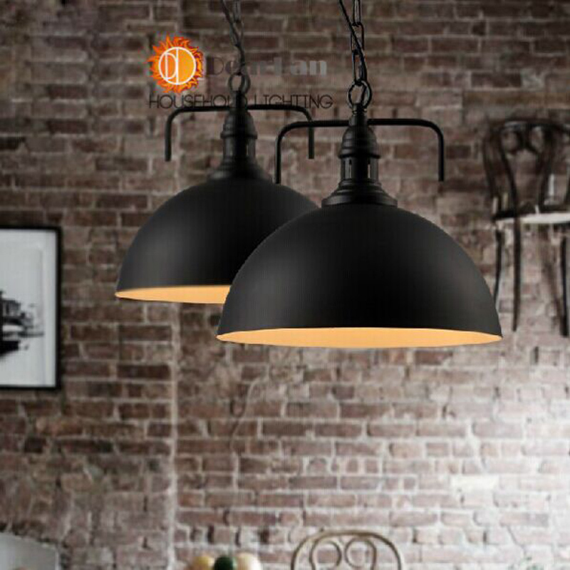 ФОТО Black Iron Vintage Pendant Lamp Items,Edison Pendant Hanging Suspensory Lights For Dining Rooms