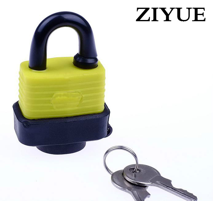 Free Shipping 30mm Waterproof Weatherproof Strong Padlock with Key Tooth Rubber Keyed PadLock for Entry Door Warehouse