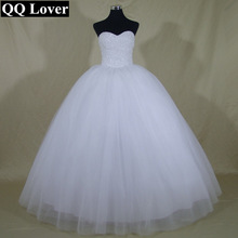 Princess Bling Luxury Pearls Or Crystals White Wedding Dress Gown 2015 Bridal Wedding Gown Vestido De Novia