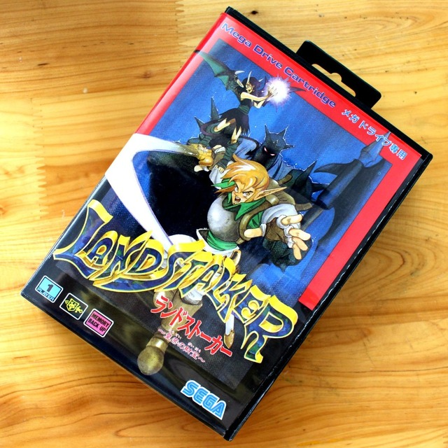 d4bef209b47 Land Stalker 16 Bit MD Game Card with Retail Box for Sega MegaDrive &  Genesis Video Game console system