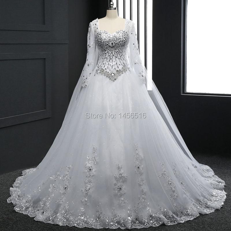 Top Luxury Wedding Dress : Real sample new bandage tube top crystal luxury
