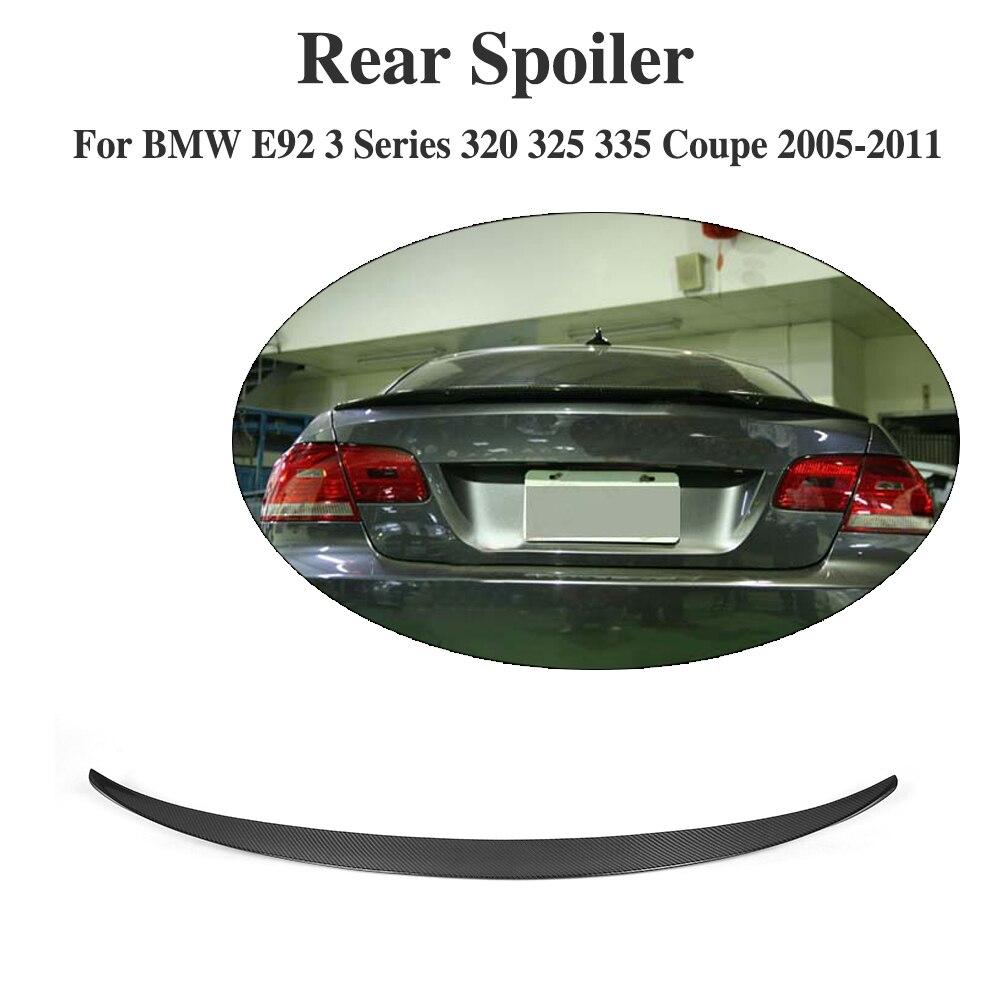 Ailes en carbone pour BMW E92 Spoiler 3 série 2 porte E92 M3 325i 328i 335i Coupe becquet en carbone Performance style de voiture 2005-2012