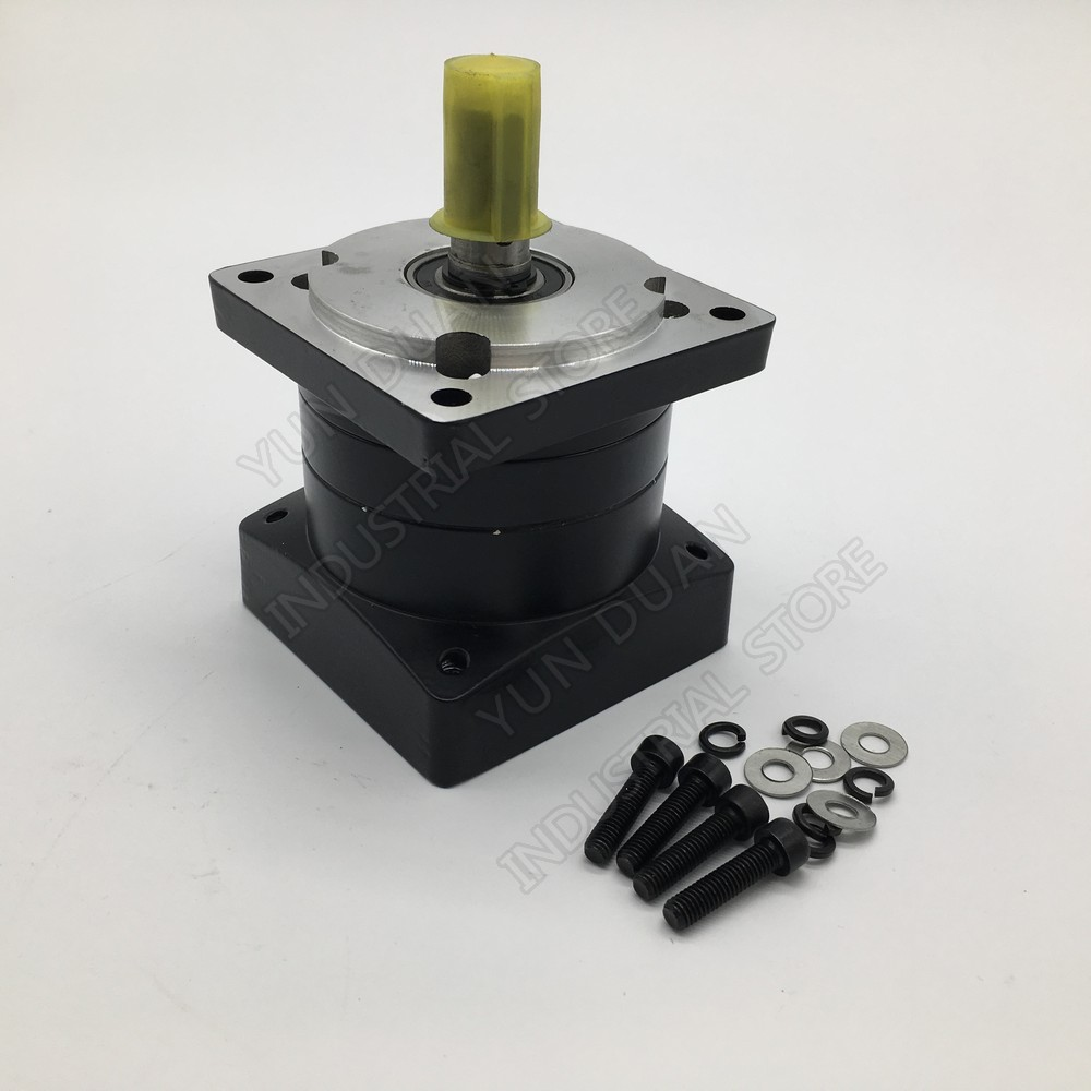 Planetary Gearbox 6 1 Speed Ratio Nema34 86mm Speed Reducer Shaft 14mm Carbon Steel Gear for
