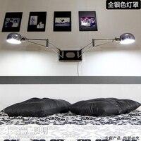 Светодиодный настенный светильник современный минималистский спальня ночники Rocker Стад стене висит творческие для чтения с диммер fg660