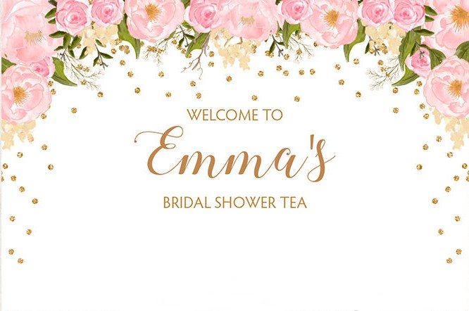 Us 26 01 15 Off Custom Floral Bridal Shower Tea Party Polka Dot Backdrops High Quality Computer Print Wedding Photography Backgrounds In Background