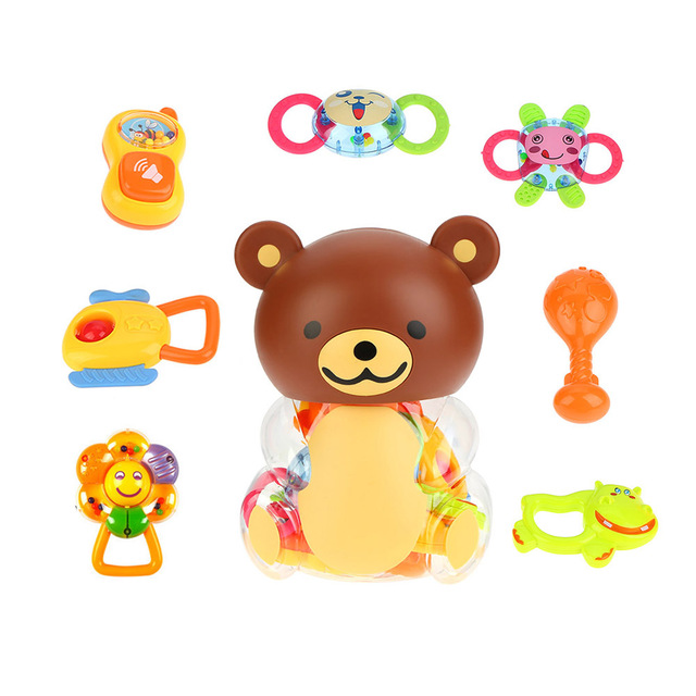 Popular Baby Toys 8 Pieces Rattle And Teether For 0 18 Months Baby