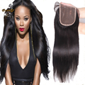 7A Brazilian Straight Closure 100% Virgin Human Hair Lace Closure Bleached Knots Free Middle 3 Part Closures Lace Front Closure