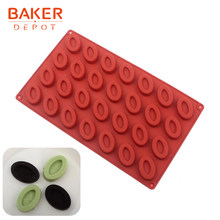 Baker Depot Mini Donut Silicone Mold Voor Biscuit Donuts Cake Gebak Bakvormen Ovale Snoep Chocolade Mould Cake Decoratie Ice Tray(China)