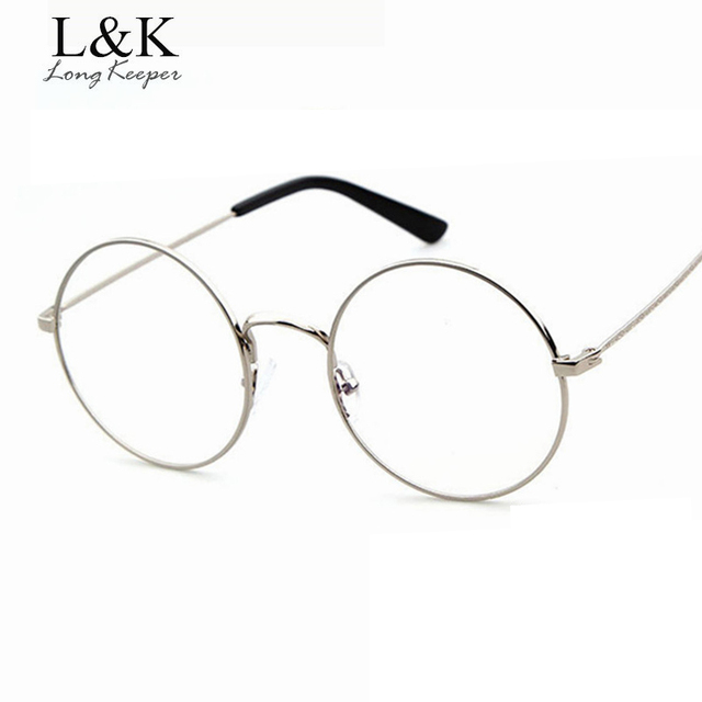 Long Keeper 2017 Hot Sale Round Frame Glasses Women Gold Frame