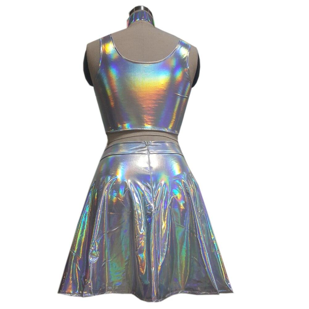 uk cheap sale best online 2018 shoes Jupe holographique ras du cou Festival Rave porter des ...