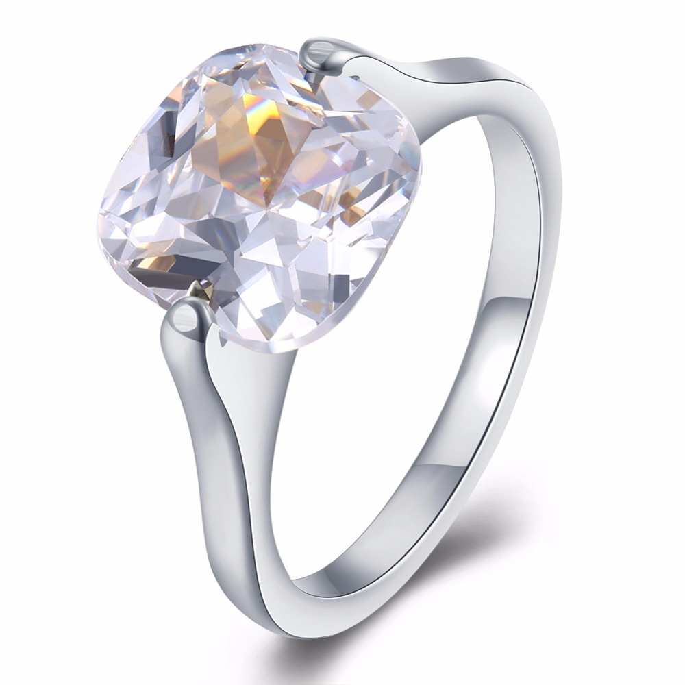 classic crystal stainless steel ring women for elegant charms ring female cool wedding rings jewelry anel - Weird Wedding Rings
