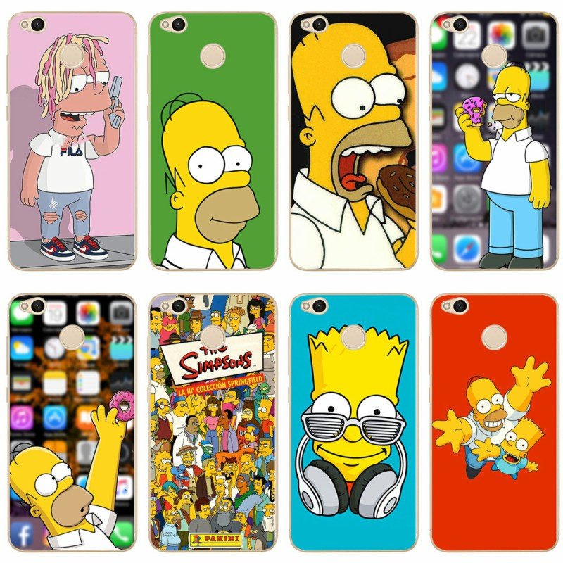 The Simpsons Cartoons Anime Cover 2018 TPU Phone Case For redmi4A 4X 5 5a 5Plus note4 4X 5 for xiaomi4 5 6X 8 note3 miX2S