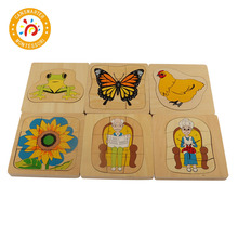 Jigsaw Puzzles Montessori Biology Wooden Puzzle Toys 3-6 Years Kids Educational Brain Teaser Baby Tangram Puzzle Toy Wood BO060 kids wooden montessori material animals jigsaw puzzle educational toys for children wood tangram memory flag teaching aids