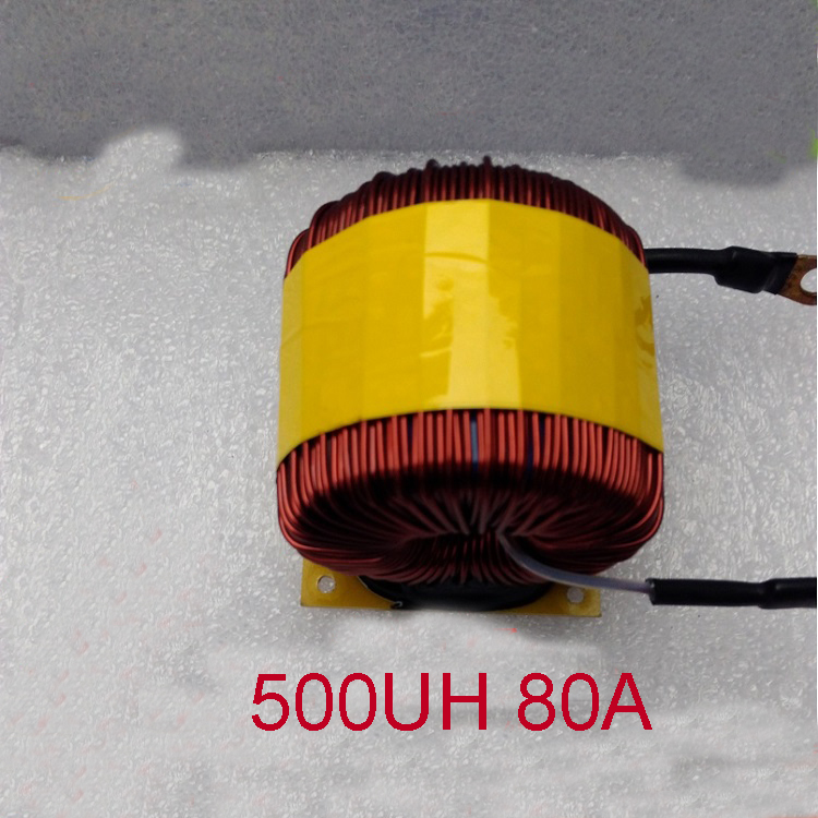 big power Ferrosilicon magnetic inductor 500uh 80A LC LCL Filter Inductor PFC ring Inductor 49 turns