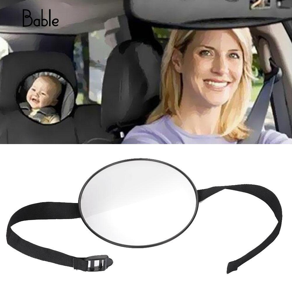 Circle Baby Car Mirror Kids Safety Gifts Adjustable Infants Car Mirror Ward Creative Baby Seat Mirror Monitor