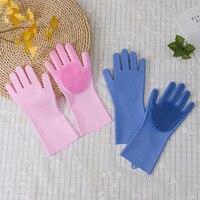 2 пары силиконовых волшебных перчаток для мытья посуды  длинные резиновые перчатки  силиконовые перчатки для очистки  термостойкие кухонны...