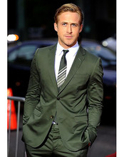 Slim Tailored Dark Olive Green Suit