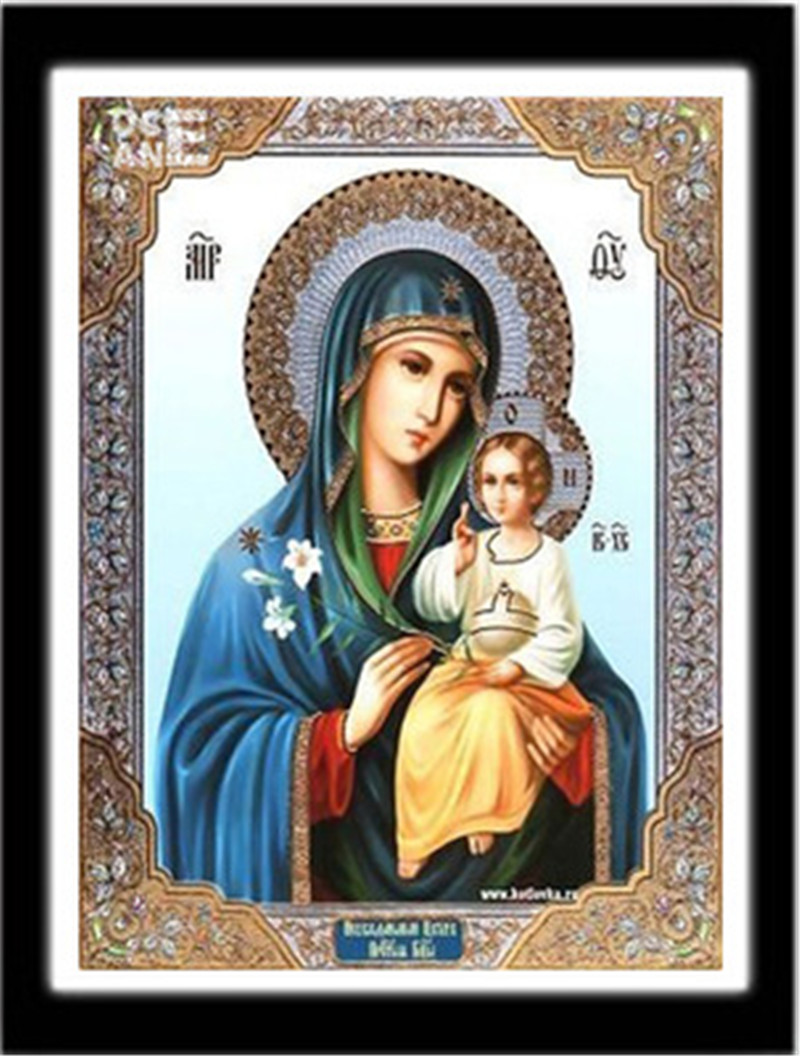 Christian easter decorations for the home - 30 40cm Needlework 5d Diy Diamond Painting Cross Stitch Religious People Diamond Embroidery For Easter Home Decoration 5zhh238