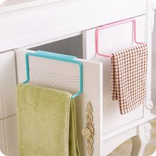 1 Pc Candy Colors Over Door Tea Towel Holder Rack Rail Cupboard Hanger Bar Hook Bathroom Kitchen Accessories Free Shipping