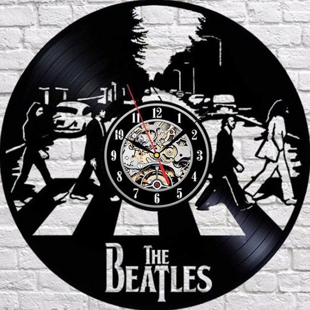 Hot Vinyl Record Wall Clock Modern Design The Beatles Wall Watch Home Decor Classic Clock Relogio Parede Decorative