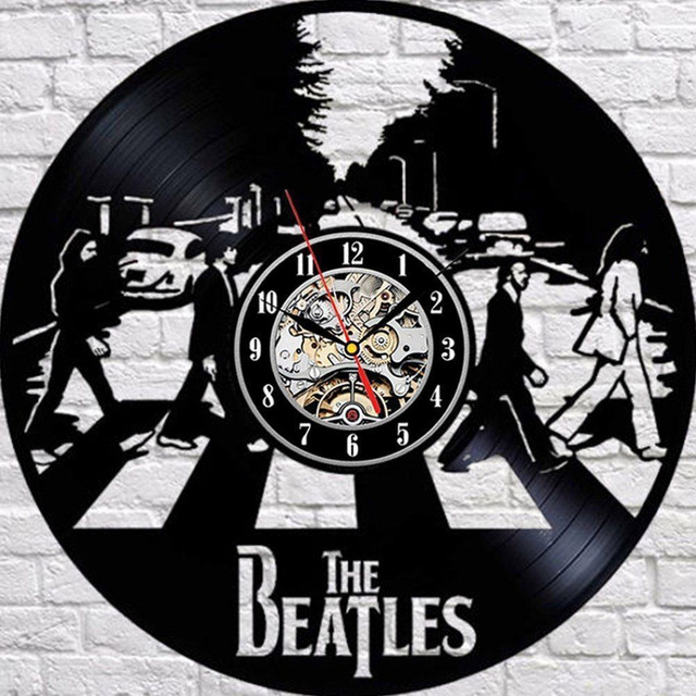 Hot Vinyl Record Wall Clock Modern Design The Beatles Wall Watch Home Decor Classic Clock Relogio Parede Decorative