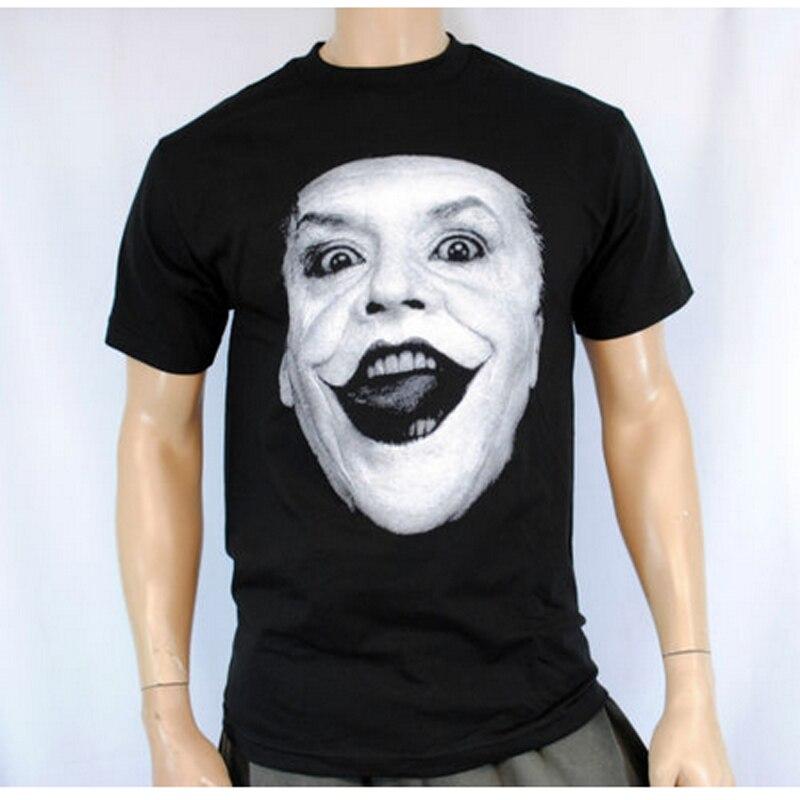 The Joker Jack Nicholson Batman the dark knight rises T shirt Men's Short Sleeve Funny Tees Custom Your Face Design Tee Shirt