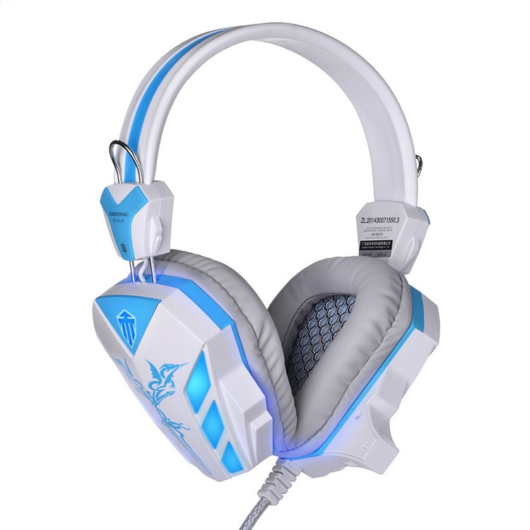 Cosonic CD-618 40mm Driver Unit Two-channel Stereo Gaming Headset Headphones with Volumn Control Mic LED Light for PC Computer (12)