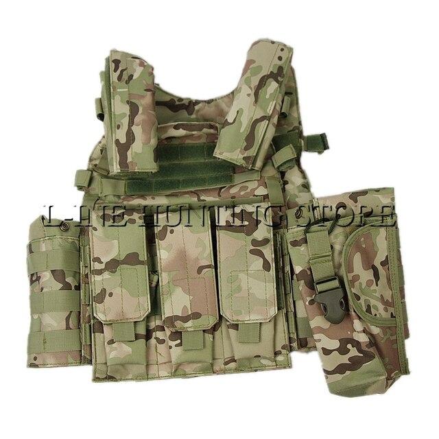 Multicam Tactical Vest Molle Combate Greve Plate Carrier Vest Colete Fio de  Aço Colete de Caça 9c69394769e33