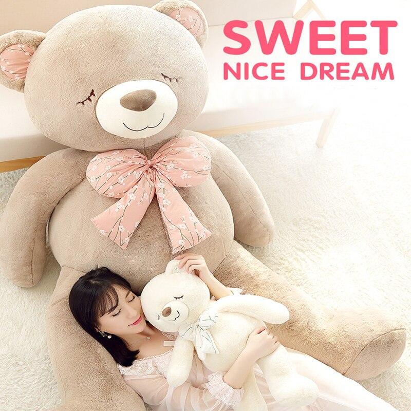 160cm Giant Huge soft Plush teddy bear toy bow tie bear doll birthday fashion gift