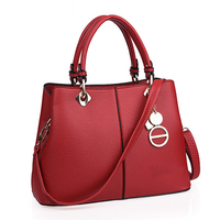2017 Latest Litchi Texture Saffiano Leather Bag For Women PU Designer Tote Bags Famous Branded Ladies