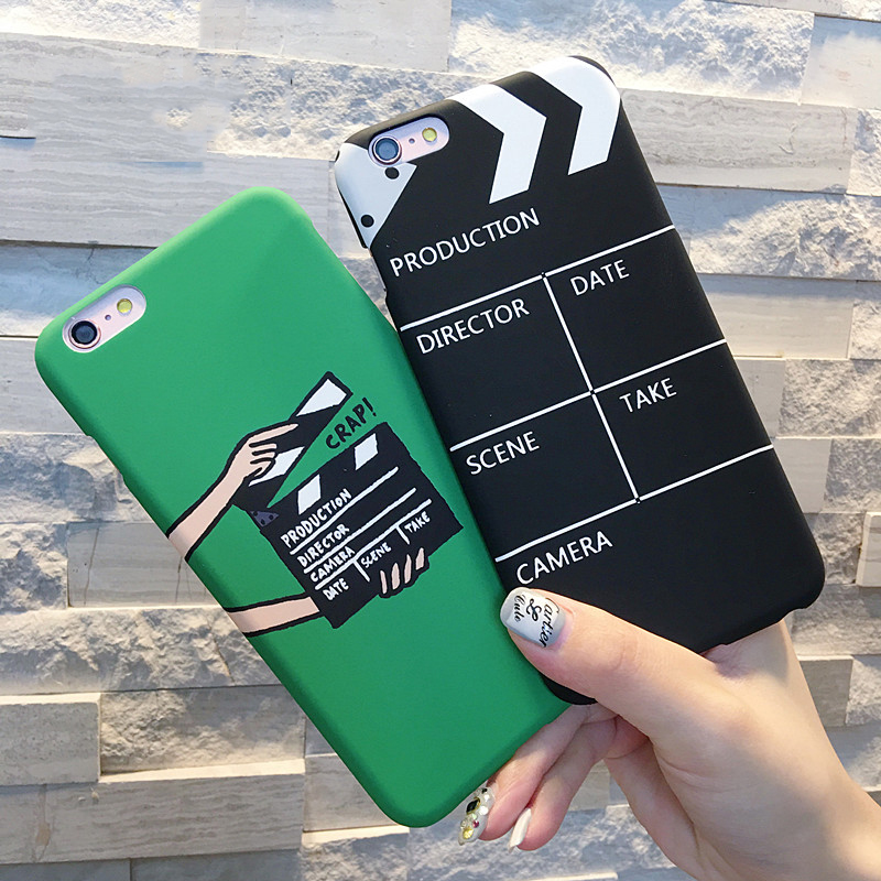 New Movie Clapperboard Pattern For iPhone 5 5S SE 6 6S Plus 7 7 Plus Phone Bags & Cases Soft Scrub Hard Phone Back Cover YC1944