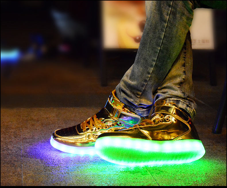 2017 New Arrive Led Lighting Shoes Usb Charging Several Colors Changed Hight Top Quality Lover S In Men Casual From On Aliexpress