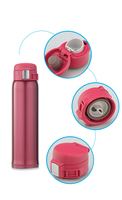 Bounce Double Wall Vacuum Insulated High Quality 304 Stainless Steel Bottle Mulberry Red