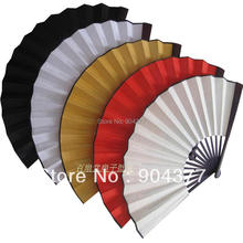 10pcs/lot Free shipping Large DIY Wedding Hand Fans Program Plain Color Folding Chinese Silk Fan Fine Art Painting