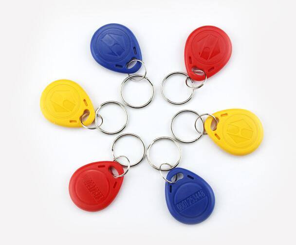 RF proximity EM/ID card ,key fob 125kHz,shape card,keyfob tags red/yellow/blue option min:10pcs стоимость