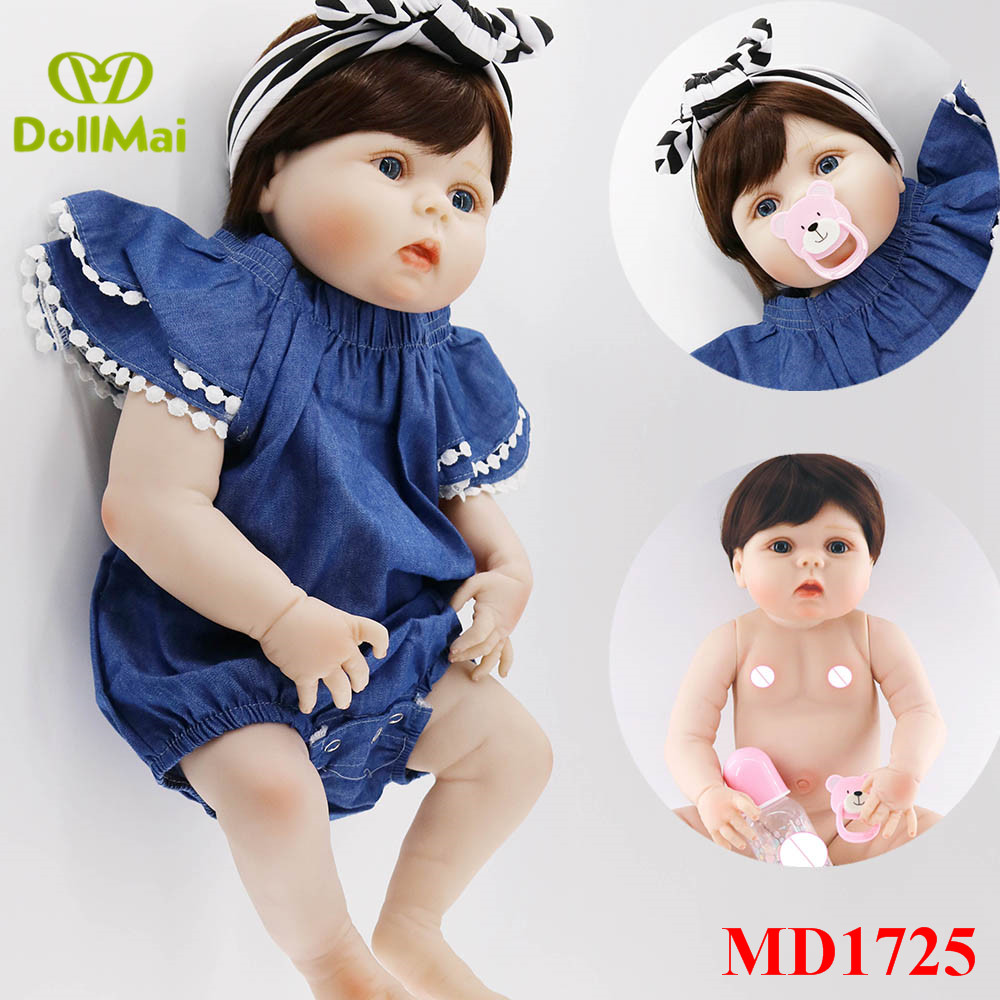 23 57cm Baby Girl Doll Full Silicone Body Lifelike Bebe alive Reborn Bonecas Handmade Baby Toy For Kids birthday Gifts23 57cm Baby Girl Doll Full Silicone Body Lifelike Bebe alive Reborn Bonecas Handmade Baby Toy For Kids birthday Gifts