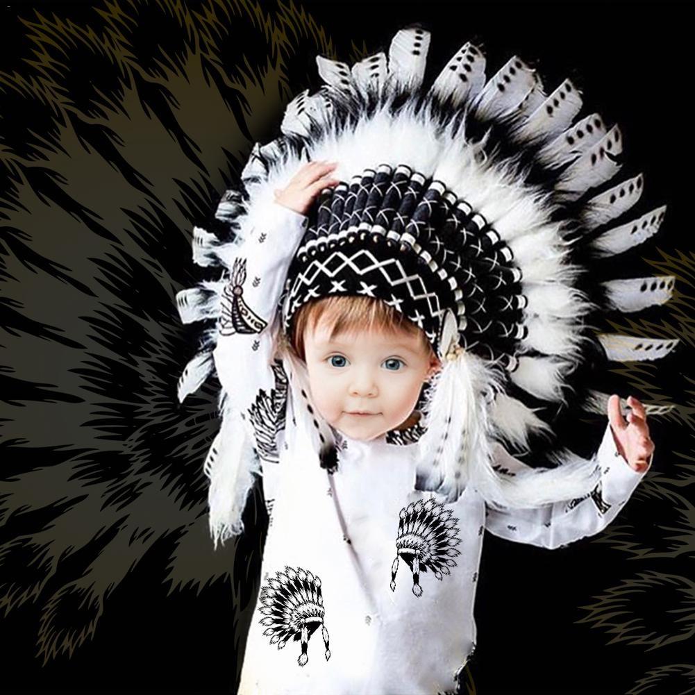 2018 neue Kind Feder Blume Kopfschmuck Party Hut Indischen Stil Stirnband Girlande Haar Zubehör Baby Dekoration