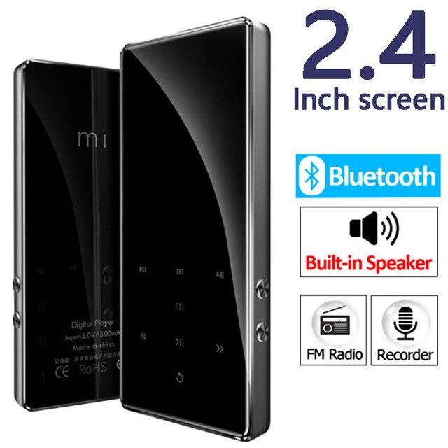 מתכת HIFI Mp4 נגן 2.4 אינץ מסך Bluetooth 4.2 Lossless מוסיקה מיני MP3 נייד נגני אודיו FM רדיו ספר אלקטרוני וידאו