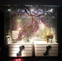 cherry blossom mosaic art,luxury and fashion mosaic design