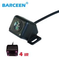 HD inverso dell'automobile della macchina fotografica 4 IR visione notturna impermeabile per parcheggio auto video monitor back up/anteriore vista posteriore sistema