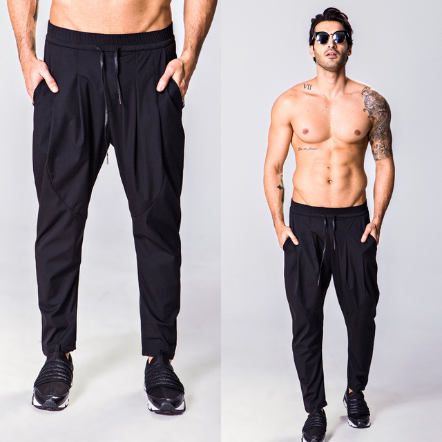 Fashion fashion kung fu pants skinny pants harem pants elastic fabric male casual pants 1818-8611-f75