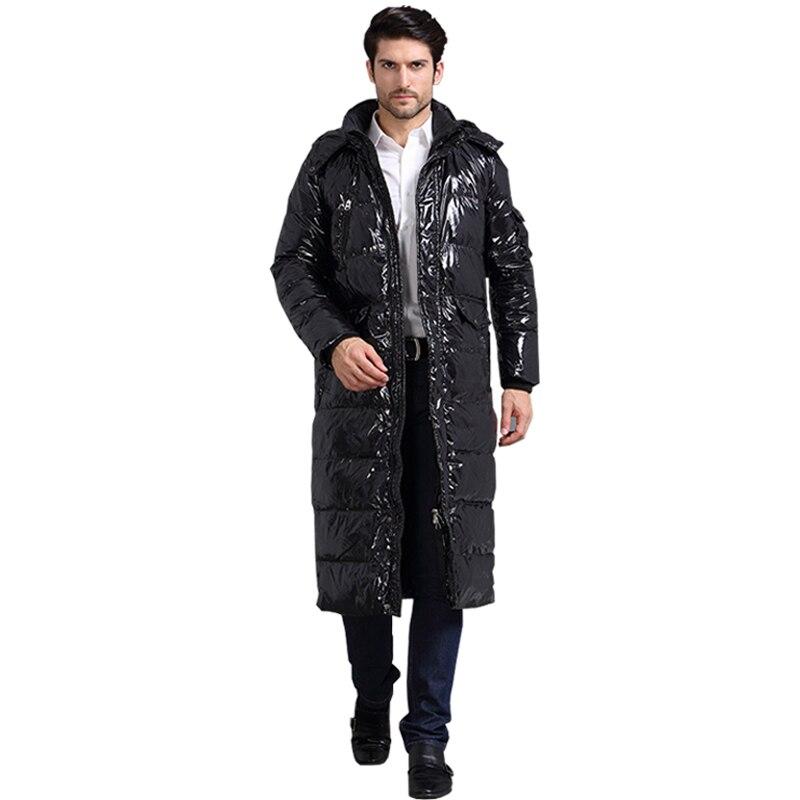 Роскошные дизайнеры сделали 90% белая утка X-Длинные повседневные пуховая куртка зимняя мужская Куртки теплые толстые пуховики пальто для му...