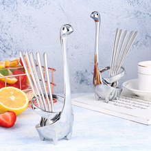 Stainless Steel Creative Kitchen Cutlery Storage Rack Loch Ness Monster Cutlery Storage Rack Set Cute Kitchen Accessories the loch mess monster